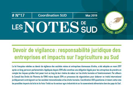 Devoir de vigilance : responsabilité juridique des entreprises et impacts sur l'agriculture au Sud