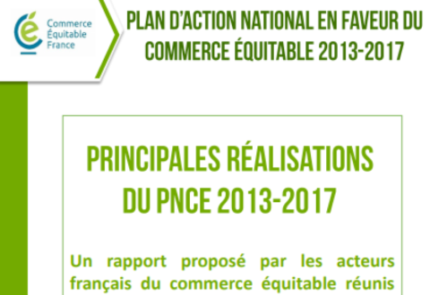 Principales réalisation du plan d'action national en faveur du commerce équitable 2013-2017