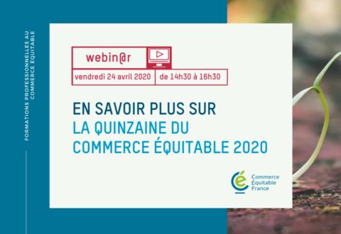 Formation : En savoir plus sur la Quinzaine du commerce équitable 2020