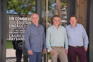 Stéphane Comar, Rémi Roux et Christophe Eberhart, co-fondateurs de la SCOP Ethiquable