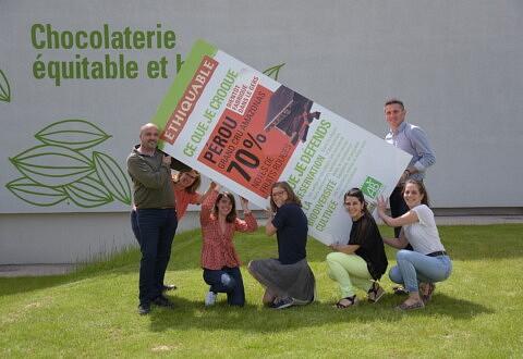 Inauguration de la première chocolaterie bio et équitable d'Europe